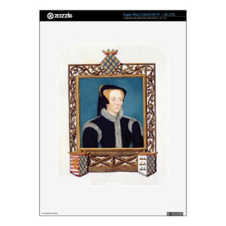 Portrait of Katherine Baroness Willoughby d'Eresby Decals For iPad 3
