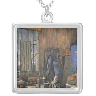 Portrait of Ker-Xavier Roussel  1935 Silver Plated Necklace
