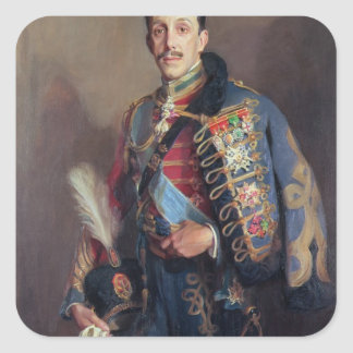Portrait of King Alfonso XIII of Spain , 1927 Square Sticker