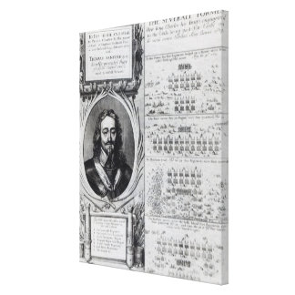 Portrait of King Charles I with diagrams Canvas Print