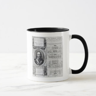 Portrait of King Charles I with diagrams Mug