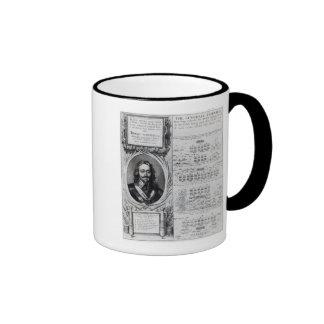 Portrait of King Charles I with diagrams Coffee Mug