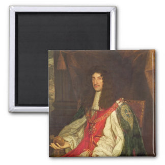 Portrait of King Charles II, c.1660-65 2 Inch Square Magnet