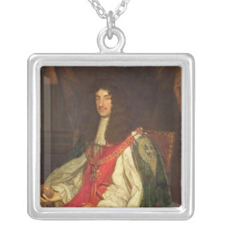 Portrait of King Charles II, c.1660-65 Silver Plated Necklace