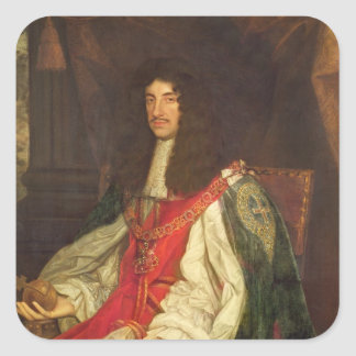 Portrait of King Charles II, c.1660-65 Sticker