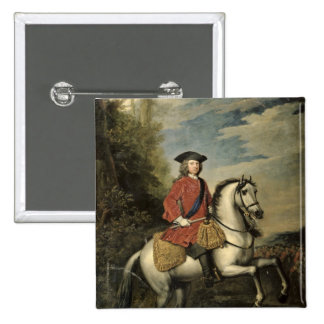 Portrait of King George I, 1717 2 Inch Square Button