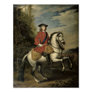 Portrait of King George I, 1717 Poster