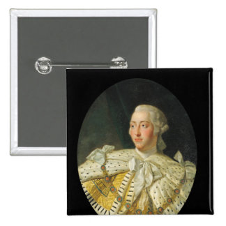 Portrait of King George III  after 1760 2 Inch Square Button