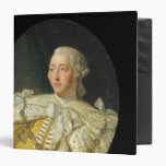Portrait of King George III  after 1760 3 Ring Binder