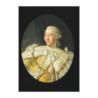Portrait of King George III  after 1760 Canvas Print