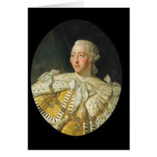 Portrait of King George III  after 1760 Card