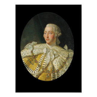 Portrait of King George III  after 1760 Poster