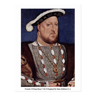 Portrait Of King Henry Viii Of England Postcard