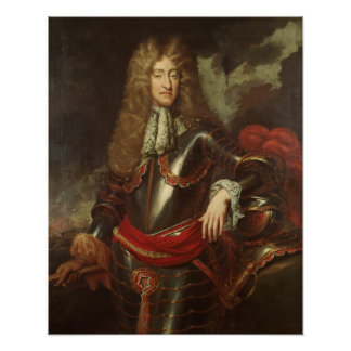 Portrait of King James II, c.1690 Poster