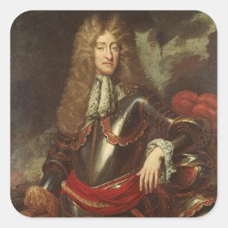 Portrait of King James II, c.1690 Square Sticker