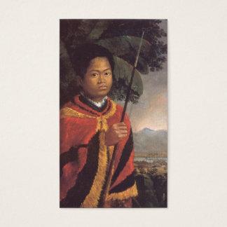 Portrait of King Kamehameha III of Hawaii Business Card