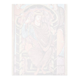 Portrait Of King Lothar By Meister Des Lothar-Evan Letterhead