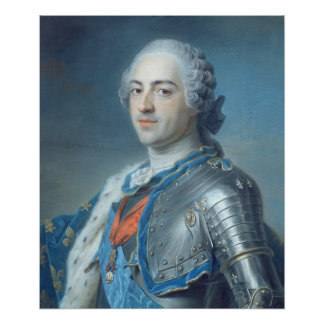 Portrait of King Louis XV  1748 Poster