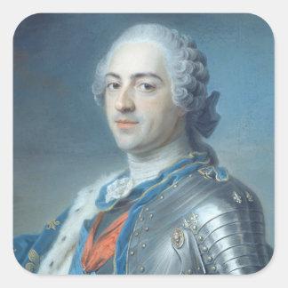 Portrait of King Louis XV  1748 Square Sticker