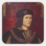 Portrait of King Richard III Square Sticker