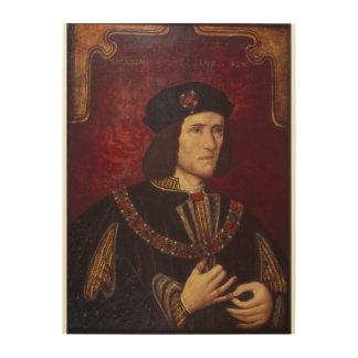 Portrait of King Richard III Wood Print