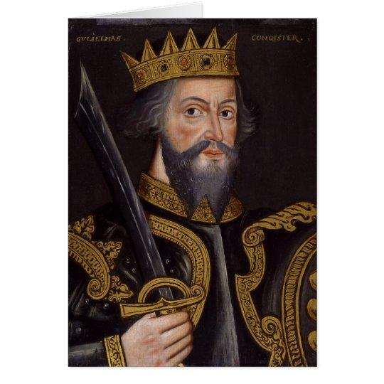 Portrait of King William I The Conqueror Card