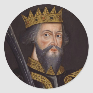 Portrait of King William I The Conqueror Classic Round Sticker