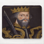 Portrait of King William I The Conqueror Mousepads