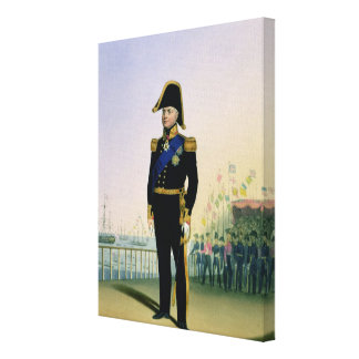 Portrait of King William IV (1765-1837) plate 14 f Canvas Print