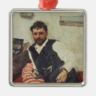Portrait of Konstantin Korovin , 1891 Metal Ornament