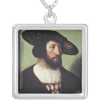 Portrait of Kristian II Silver Plated Necklace