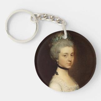 Portrait of Lady by Thomas Gainsborough Acrylic Keychain