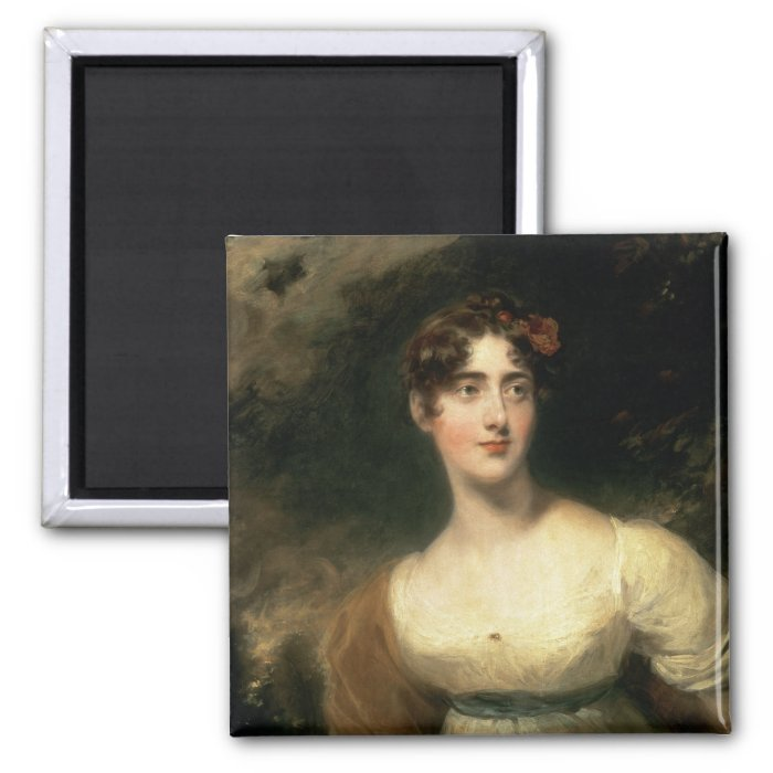 Portrait of Lady Emily Harriet Wellesley-Pole 2 Inch Square Magnet