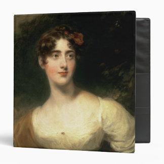 Portrait of Lady Emily Harriet Wellesley-Pole 3 Ring Binder