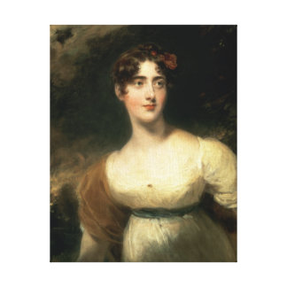 Portrait of Lady Emily Harriet Wellesley-Pole Canvas Print