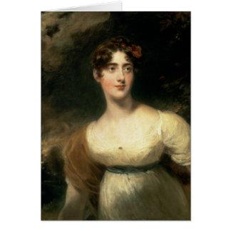 Portrait of Lady Emily Harriet Wellesley-Pole Card