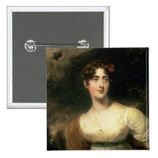 Portrait of Lady Emily Harriet Wellesley-Pole Pinback Button