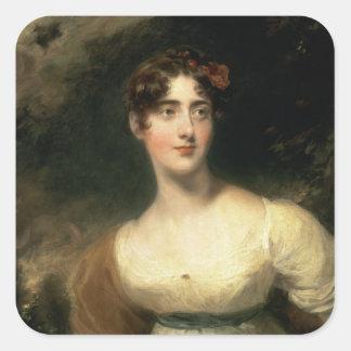Portrait of Lady Emily Harriet Wellesley-Pole Square Sticker