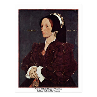 Portrait Of Lady Margaret Wyatt Lee Postcard