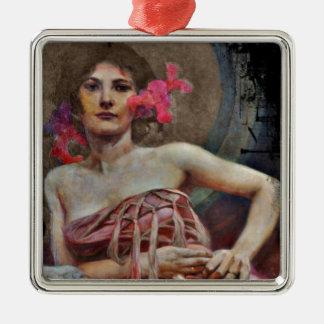 Portrait of Lady Metal Ornament
