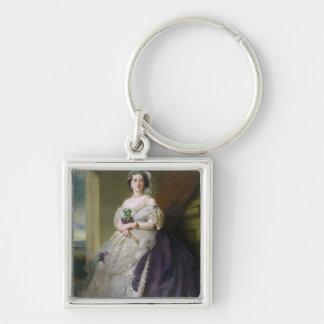 Portrait of Lady Middleton , 1863 Silver-Colored Square Keychain
