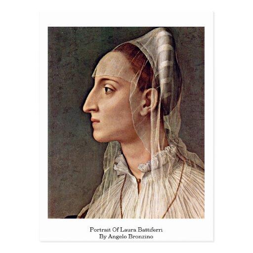 Portrait Of Laura Battiferri By Angelo Bronzino Postcard