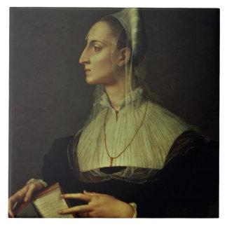 Portrait of Laura Battiferri, c.1555-60 (panel) Tile