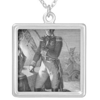 Portrait of Laurent de Gouvion Saint-Cyr Silver Plated Necklace