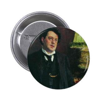 Portrait of lawyer Oskar Grusenberg by Ilya Repin Pinback Button