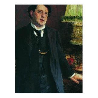 Portrait of lawyer Oskar Grusenberg by Ilya Repin Postcard