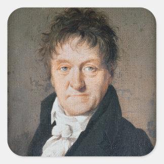 Portrait of Lazare Nicolas Marguerite Carnot Square Sticker