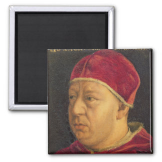 Portrait of Leo X 2 Inch Square Magnet