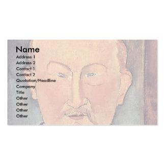 Portrait Of Leon Bakst By Modigliani Amedeo Business Card