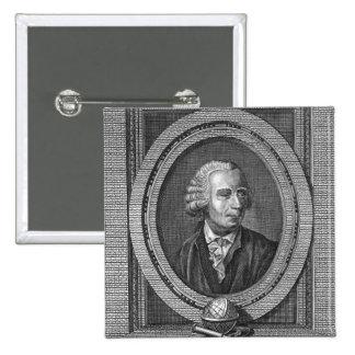 Portrait of Leonard Euler 2 Inch Square Button
